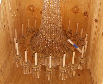 chandelier crate